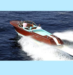 Boat builder building mahogany runabouts, replica power boats, Riva look alike.